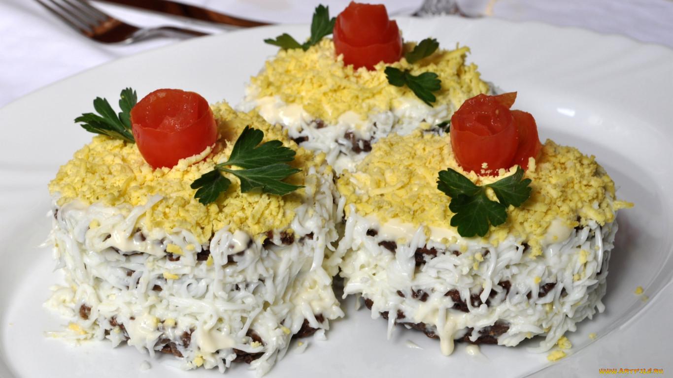 Салат из печени говяжьей торт рецепт с очень вкусный